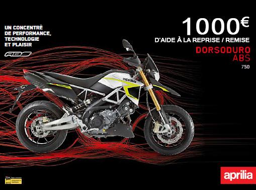 APRILIA DORSODURO 750 REMISE DE 1000€