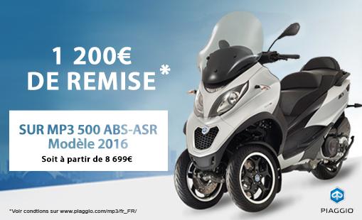 1200e remise MP3 500 ABS-ASR Modèle 2016.