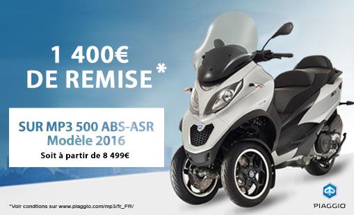 1400e remise MP3 500 ABS-ASR Modèle 2016.