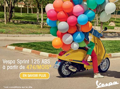 Financement Vespa Sprint 125cc à 47€/mois