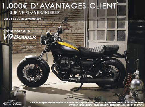 1000€ d'accessoires offerts sur V9 Bobber et Roamer