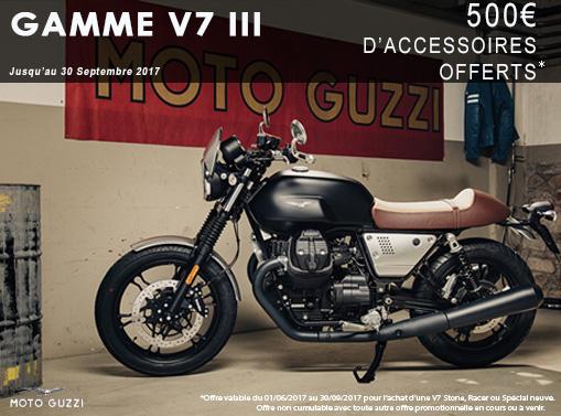 500€ d'accessoires offerts sur la Gamme V7 III